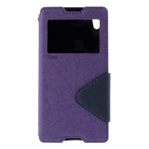 Diary pouzdro s okýnkem na Sony Xperia Z5 - fialové - 3