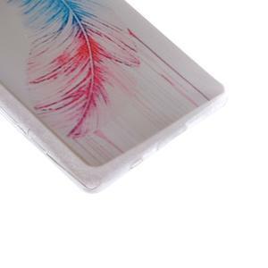 Gelový obal na mobil Sony Xperia Z5 Compact - peříčko - 3