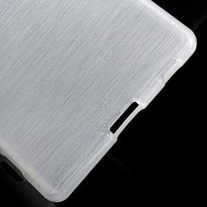 Brush lesklý gelový obal na Sony Xperia Z5 - bílý - 3