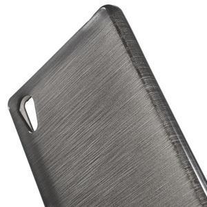 Brush lesklý gelový obal na Sony Xperia Z5 - šedý - 3