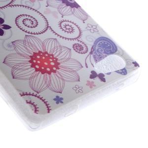 Gelový obal na mobil Sony Xperia Z5 Compact - květiny a motýl - 3