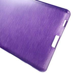 Brush lesklý gelový obal na Sony Xperia Z5 - fialový - 3
