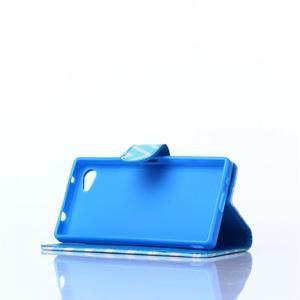 Sand pouzdro na mobil Sony Xperia Z5 Compact - modrý chevron - 3