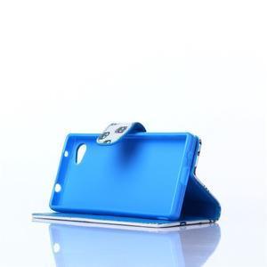 Sand pouzdro na mobil Sony Xperia Z5 Compact - modrá očka - 3