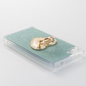 Love gelový obal s náprstkem na Sony Xperia Z5 Compact - cyan - 3