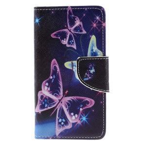 Wally peněženkové pouzdro na Sony Xperia Z5 Compact - kouzelní motýlci - 3