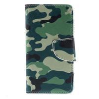 Wally Peňaženkové puzdro pre Sony Xperia Z5 Compact - kamufláž - 3/7