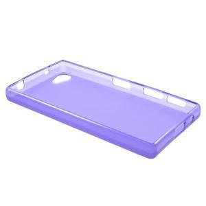 Matný gelový obal na Sony Xperia Z5 Compact - fialový - 3