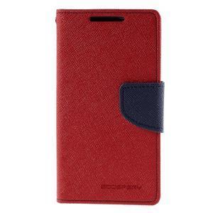 Fancy PU kožené pouzdro na Sony Xperia Z5 Compact - červené - 3