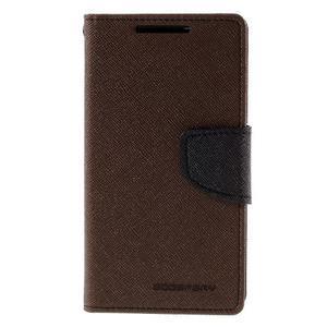 Fancy PU kožené pouzdro na Sony Xperia Z5 Compact - hnědé - 3