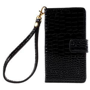 Croco peněženkové pouzdro na Sony Xperia Z5 Compact - černé - 3