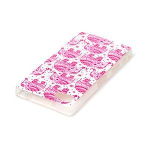Sally gelový obal na Sony Xperia Z5 Compact - růžoví sloni - 3
