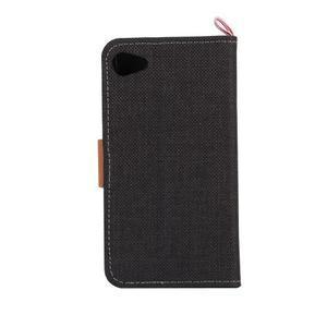 Cloth peněženkové pouzdro na mobil Sony Xperia Z5 Compact - černé - 3