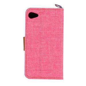 Cloth peněženkové pouzdro na mobil Sony Xperia Z5 Compact - růžové - 3
