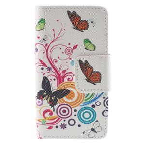 Diary peněženkové pouzdro na Sony Xperia Z5 Compact - motýlci - 3