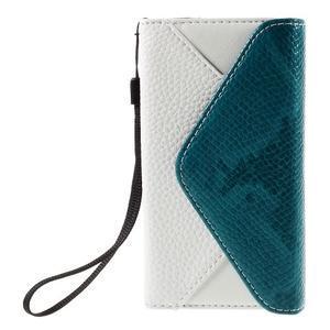 Stylové peněženkové pouzdro na Sony Xperia Z5 Compact - modré - 3