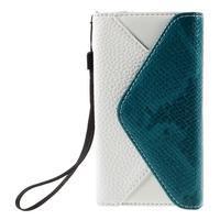 Stylové peněženkové pouzdro na Sony Xperia Z5 Compact - modré - 3/7