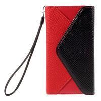 Stylové peněženkové pouzdro na Sony Xperia Z5 Compact - červené - 3/7