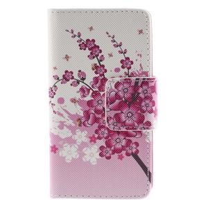 Diary peněženkové pouzdro na Sony Xperia Z5 Compact - květoucí větvička - 3