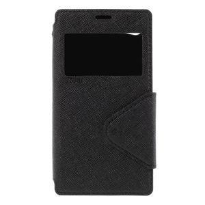 Pouzdro s okýnkem na Sony Xperia Z5 Compact - černé - 3