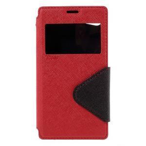 Pouzdro s okýnkem na Sony Xperia Z5 Compact - červené - 3