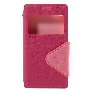 Pouzdro s okýnkem na Sony Xperia Z5 Compact - rose - 3
