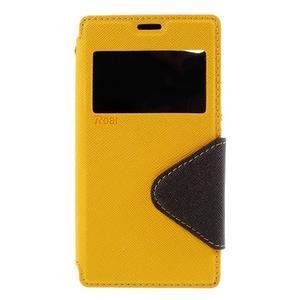 Pouzdro s okýnkem na Sony Xperia Z5 Compact - žluté - 3