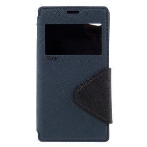 Pouzdro s okýnkem na Sony Xperia Z5 Compact - tmavěmodré - 3