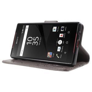 Butterfly peněženkové pouzdro na Sony Xperia Z5 Compact - šedé - 3