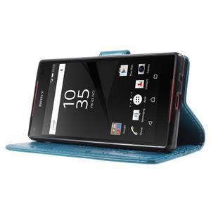 Butterfly peněženkové pouzdro na Sony Xperia Z5 Compact - modré - 3