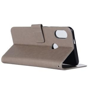 Dream PU kožené peněženkové pouzdro na Xiaomi Mi A2 Lite - šedé - 3