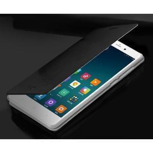 Černé PU kožené poudro na mobil Xiaomi Mi Note - 3