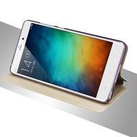 Vintage stylové PU kožené pouzdro na mobil Xiaomi Mi5 - růžové - 3/3