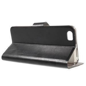Horse peněženkové pouzdro na mobil Xiaomi Mi5 - černé - 3