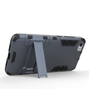 Hybridní odolný kryt na mobil Xiaomi Mi5 - šedomodrý - 3
