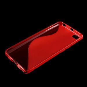 S-line gelový obal na mobil Xiaomi Mi5 - červený - 3