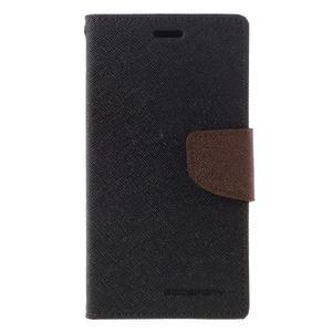 Diary PU kožené pouzdro na mobil Xiaomi Redmi 3 - černé/hnědé - 3