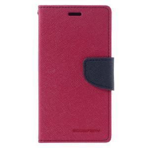 Diary PU kožené pouzdro na mobil Xiaomi Redmi 3 - rose - 3