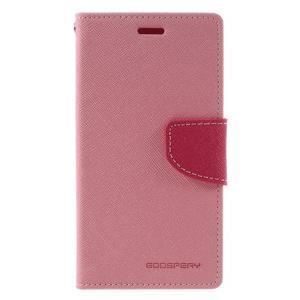 Diary PU kožené pouzdro na mobil Xiaomi Redmi 3 - růžové - 3