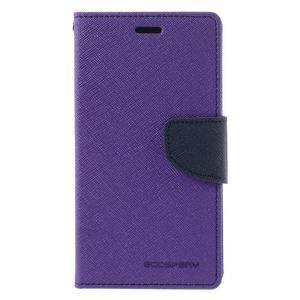 Diary PU kožené pouzdro na mobil Xiaomi Redmi 3 - fialové - 3