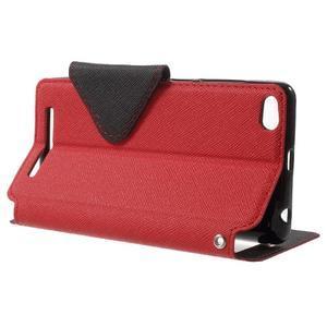 Diary view peněženkové pouzdro na Xiaomi Redmi 3 - červené - 3