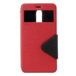 Diary pouzdro s okýnkem na mobil Xiaomi Redmi Note 3  - červené - 3