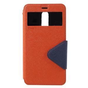 Diary pouzdro s okýnkem na mobil Xiaomi Redmi Note 3  - oranžové - 3