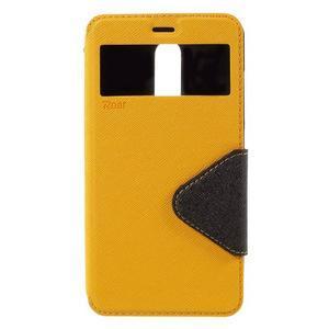 Diary pouzdro s okýnkem na mobil Xiaomi Redmi Note 3  - žluté - 3