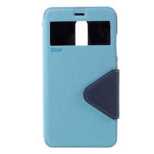 Diary pouzdro s okýnkem na mobil Xiaomi Redmi Note 3  - světlemodré - 3