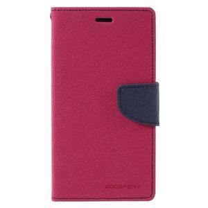 Wallet PU kožené pouzdra na Xiaomi Redmi Note 3 - rose - 3