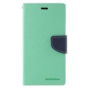 Wallet PU kožené pouzdra na Xiaomi Redmi Note 3 - azurové - 3