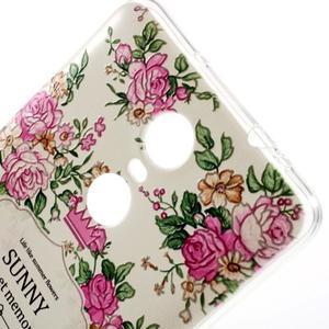 Softy gelový obal na Xiaomi Redmi Note 3 - květiny - 3