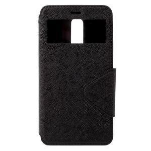 Diary pouzdro s okýnkem na mobil Xiaomi Redmi Note 3  - černé - 3