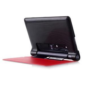 Polohovatelnotelné PU kožené pouzdro na Lenovo Yoga Tab 3 8.0 - červené - 3